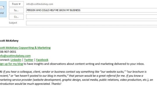 Leave No Marketing Stone Unturned - The Email Signature Edition